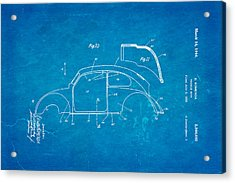 Komenda Vw Beetle Body Design Patent Art 2 1944 Blueprint Acrylic Print by Ian Monk