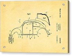 Komenda Vw Beetle Body Design Patent Art 2 1944 Acrylic Print by Ian Monk