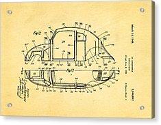 Komenda Vw Beetle Body Design Patent Art 3 1944 Acrylic Print by Ian Monk