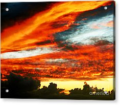 Acrylic Print featuring the photograph Kona Sunset 77 Lava In The Sky  by David Lawson
