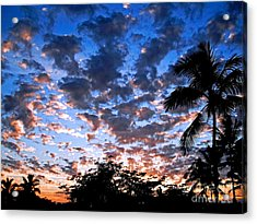 Acrylic Print featuring the photograph Kona Sunset by David Lawson