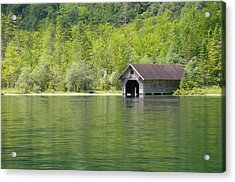 Konigsee Boathouse Acrylic Print