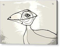 Acrylic Print featuring the drawing Koo-koo Bird by Kjirsten Collier