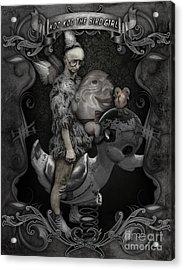 Koo Koo The Bird Girl Acrylic Print by Gregory Dyer