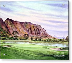 Koolau Golf Course Hawaii 16th Hole Acrylic Print