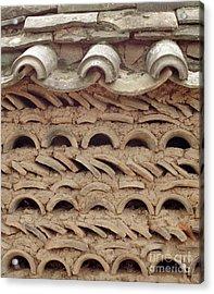 Korea Folk Architecture - Curved Tiles Acrylic Print