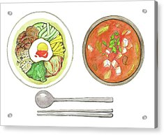 Korean Food Acrylic Print