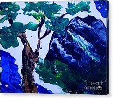 Korean Mountain Acrylic Print by Jayne Kerr