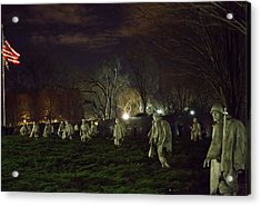 Korean War Memorial At Night Acrylic Print by Natural Focal Point Photography