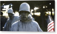 Acrylic Print featuring the photograph Korean War Soldier 2 by Nicola Nobile