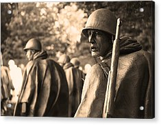 Acrylic Print featuring the photograph Korean War Soldier by Nicola Nobile