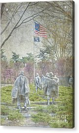Korean War Veterans Memorial Washington Dc Beautiful Unique   Acrylic Print by David Zanzinger