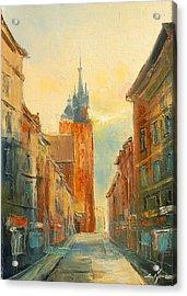 Krakow Florianska Street Acrylic Print