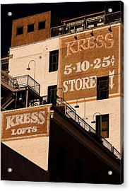 Kress Ghost Signs By Denise Dube Acrylic Print