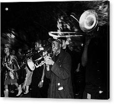 Krewe Du Vieux Parade Brass Band Acrylic Print