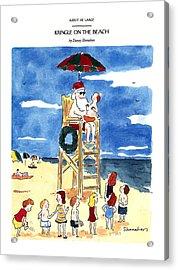 Kringle On The Beach Acrylic Print