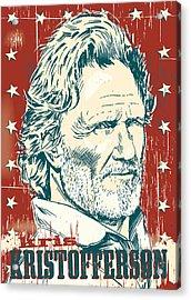 Kris Kristofferson Pop Art Acrylic Print