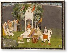 Krishna Abducting Rukmani From The Temple Acrylic Print