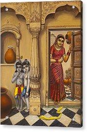 Krishna And Ballaram Butter Thiefs Acrylic Print