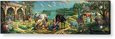 Krishna Balaram Milking Cows Acrylic Print