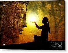 Krishna Devotion Acrylic Print