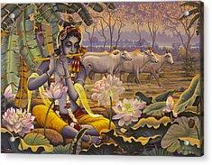 Krishna. Evening Flute Acrylic Print