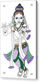 Krishna IIi Acrylic Print by Kruti Shah