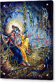 Krishna Leela Acrylic Print