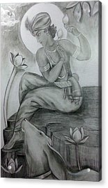 Krishna Acrylic Print by Mayur Sharma
