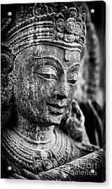 Krishna Monochrome Acrylic Print by Tim Gainey