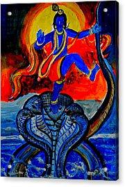 Krishna On Kalindimardan Acrylic Print