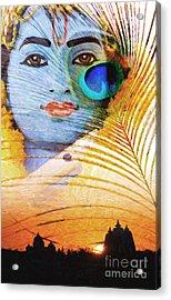 Krishna Temple Sunrise Acrylic Print by Tim Gainey