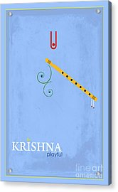 Krishna The Playful Acrylic Print by Tim Gainey