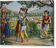 Krishna With His Dear Friend  Acrylic Print