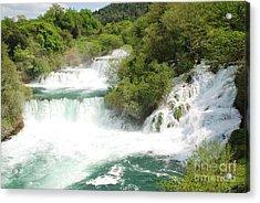 Krka Waterfalls Croatia Acrylic Print
