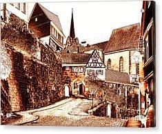 Kronach Medieval Town In Franconia Acrylic Print by Rudi Prott