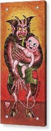 Krumpus And Baby New Year Acrylic Print by David Shumate