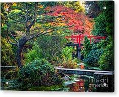 Kubota Gardens In Autumn Acrylic Print by Inge Johnsson