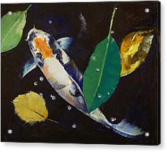 Kumonryu Koi Art Acrylic Print by Michael Creese