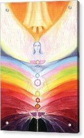 Kundalini Awakening By The Descent Of The Truth Consciousness Acrylic Print by Shiva Vangara