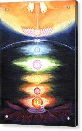 Kundalini Awakening Acrylic Print by Shiva Vangara