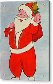 Acrylic Print featuring the painting Kurdish Santa Clause  by Magdalena Frohnsdorff