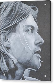 Acrylic Print featuring the painting Kurt Cobain by David Dunne