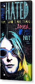 Kurt Cobain Acrylic Print by Erica Falke
