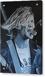 Acrylic Print featuring the painting Kurt Cobain Live by David Dunne