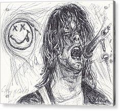 Kurt Cobain Acrylic Print by Michael Morgan