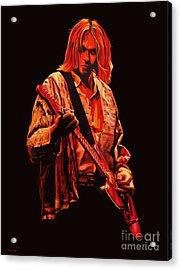 Kurt Cobain Painting Acrylic Print by Paul Meijering