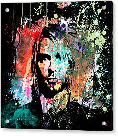Kurt Cobain Portrait Acrylic Print