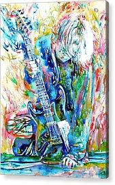 Kurt Cobain Portrait.1 Acrylic Print