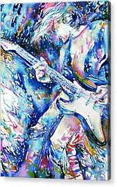 Kurt Cobain Portrait.3 Acrylic Print by Fabrizio Cassetta